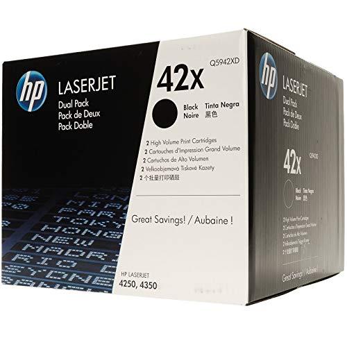 HP Q5942XD - Cartucho de tóner láser para Hewlett Packard [HP] (2 unidades), color negro