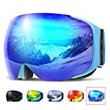 COPOZZ Ski Goggles, G2 Magnetic Snowboard Snow Goggles -2 Seconds Quick Change Lens, Imported Double-Layer Anti Fog Lens -UV400 Over Glasses OTG Helmet Compatible - for Men Women Youth Unisex