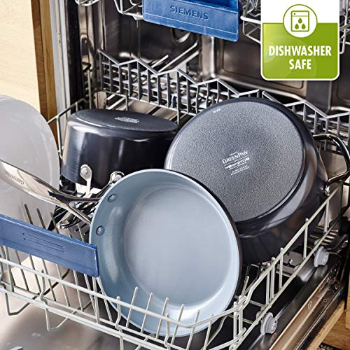 GreenPan CC000675-001 Valencia Pro 100% Toxin-Free Healthy Ceramic Nonstick Metal Utensil Dishwasher/Oven Safe Cookware Set, 11pc, Gray