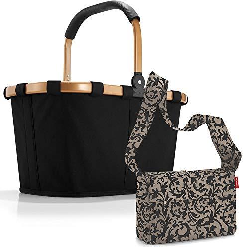 reisenthel carrybag mit Zugabe Einkaufskorb Einkaufstasche Korb (frame gold/black)