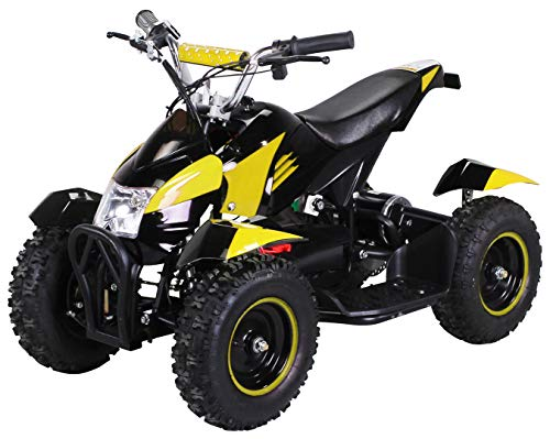 Actionbikes Motors Mini Kinder Elektro Quad ATV Cobra 800 Watt 36 V Pocket Quad - Original Saftey Touch - Kinder E Bike (Schwarz/Gelb)