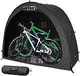 La Carpa Para Bicicletas, La Conducción Al Aire Libre, La Lona Ultragruesa Y El Soporte De Aleación Resistente Se Pueden Usar Para Almacenar Bicicletas Al Aire Libre O En Una Sala De Alma(Color:Negro)