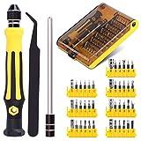 45 en 1 Juego de destornilladores, Destornilladores Precisión con puntas magnética, kit de herramientas de reparación de destornilladores de precisión Herramientas de Destornillador para Smartphone,PC