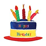 Beistle Plush Birthday Cake Hat, One Size, Multicolored