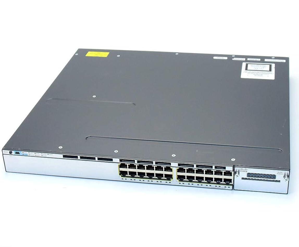 複数パーツ話【中古】 Cisco WS-C3750X-24T-S V02 24ポート1000BASE-T C3750E-UNIVERSALK9-M Ver.15.0(2)SE11 IPBASEライセンス 設定初期化済