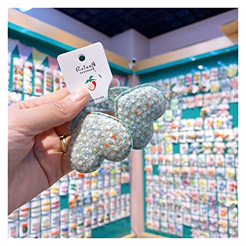 Cuerda de pelo para niños 2021 Nuevo temperamento coreano Chica Cuerda de pelo Cuerda de peluche Heart Heart Sweet Linda Banda de goma para los accesorios para el cabello de la moda de los niños