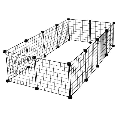 CagesCubes - Jaula CyC Grande para cobayas (2X4 Paneles en Negro)