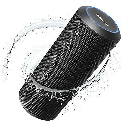 Zamkol Cassa Bluetooth Portatile, 25W Suono Stereo Altoparlante Bluetooth con Bassi, Impermeabile IPX7, Speaker Bluetooth Con Microfono, 20 Ore di Autonomia, Nero