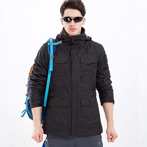 SJZC Veste Coupe Homme Ski Manteau Hommes Blouson De Impermeable Vent Pas Cher Hivers Pluie Survetement019