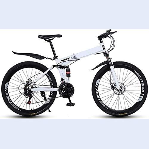 LZMXMYS Bicicletas eléctricas, bicicletas de montaña Fat Tire hardtail bicicleta de montaña de 26 pulgadas de 27 velocidades Suspensión de doble freno de disco completo antideslizante Tenedor de bicic