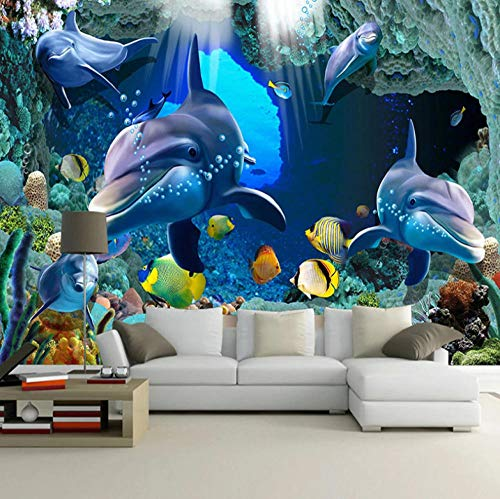 Photo Wallpaper Child 200X150cm Including Paste Wall Mural Kids Nursery Underwater Aquarium Children´S Room Living Room Bedroom Wall Papers Home Decor