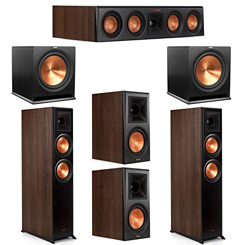 Buy Klipsch 5.2 Walnut System 2 RP-6000F Floorstanding Speakers, 1 Klipsch RP-504C Center Speaker, 2...