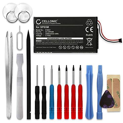 CELLONIC® Batería Premium Compatible con Sony PS Vita (PCH-1000 / PCH-1004) / PS Vita (PCH-1100 / PCH-1104), SP65M 2200mAh + Juego de Destornilladores Pila Repuesto bateria