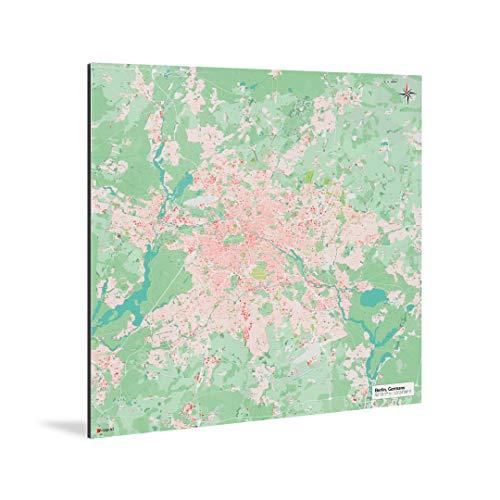 mapdid Berlin-Stadtkarte Nani | Poster S, M, L oder XL | Landkarte Weltkarte (90 x 90 cm)