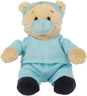 Ganz Wee Bears Get Well Soon Hospital Teddy Bear Toy in Scrubs Stuffed Animal for Comfort and Love (Doctor)