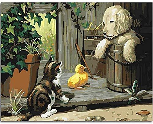 KELDOG® Kunstpuzzels voor volwassenen 1000 stukjes Houten puzzel, collectie Klassieke puzzel Cadeau voor familie - Dieren Katten Honden Eendhuis Spelen