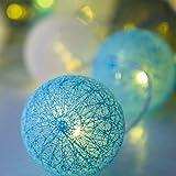 Cadena de Luces LED de 4M, 20 Bolas de Algodón, USB, 8 Modos, Bolas de LED, para Interior Pared,Decoración para Bodas,Habitaciones,Hogar,Fiestas (Tiffany)