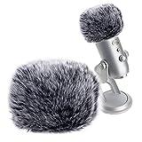 SUNMON Microphone Furry Windscreen Muff, Perfect Mic Pop Filter Mask Shield for Blue Yeti, Yeti Pro Microphones