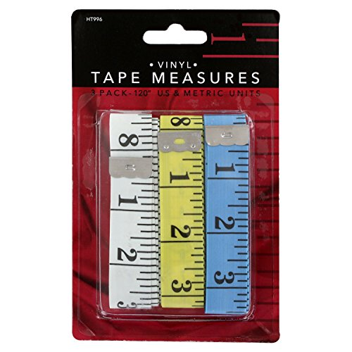 Junipers Soft Vinyl Sewing Tailoring Tape Measure Assorted Colors Pack of 3 120 Inch Body Measuring Flexible Measurement Tapes Ideal for Tailor Seamstress Home Decoration Crafting Tools