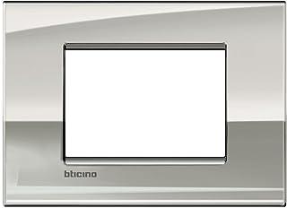 Placca Bticino Livinglight 3 Posti Palladio Lnc4803Pl Adattabile Solo Su Supporto Ln4703C