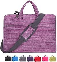 KUSDET Laptop Briefcase 15.6 Inch for Men Women, Stylish Polyester Business Shoulder Messenger Bag for Notebook Computer MacBook Air Pro Acer HP Dell Lenovo etc (15.6 inch, Stripe Pink)