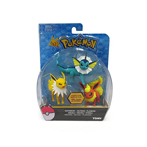 Pokemon Action Pose Umbreon Sylveon /& Espeon 3 pouces Mini Figure 3-Pack en stock