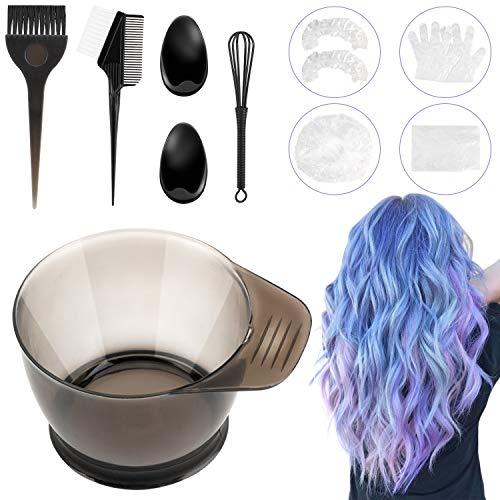 Haarfärbepinsel, Anself Haarfarbe Mischfarbstoff-Kit, WOTEK 9 teiliges Haarfärbeset Salon Tool, einschließlich Haarfärbemittel Tönungsbürste Kammschale Haarspangen für Zuhause Salon