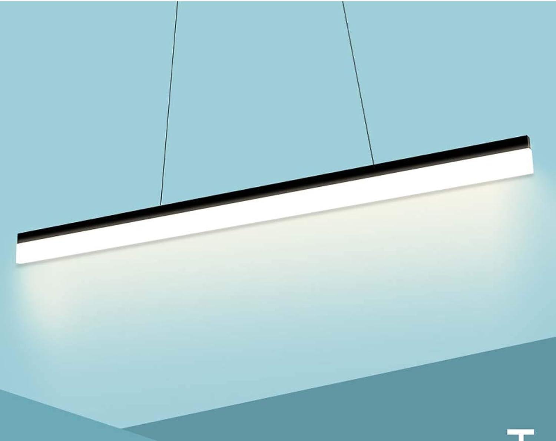 LED-Leuchter-einfache moderne Leuchter-Innenlinie beleuchtet asiatische Büro-hngende Linie beleuchtet die Technik-Kronleuchter-Kunst-lange Linie Supermarkt-Leuchter XIAOXIAO