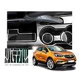 RUIYA Opel Mokka X Alfombrilla antideslizante para coche, espacio interior de la puerta, caja de almacenamiento, para 2016-2018 Opel Mokka X,decoración del automóvil con logotipo