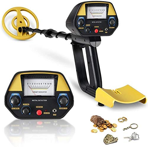 INTEY Metal Detector, High-Accuracy Metal Finder with Adjustable Stem, with Waterproof Search Coil, Sound Prompt, Depth Indicator, Easy for Adults and Kids to Treasure Hunting Detectors Metal
