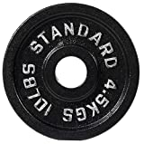 BalanceFrom Cast Iron Olympic 2-Inch Weight Plate, Single
