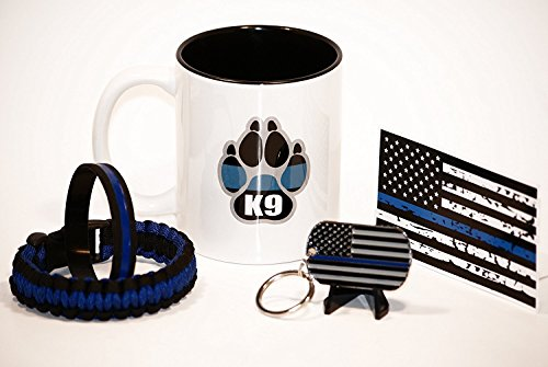 11.oz Police K9 Coffee Cup (5 Piece) Thin Blue Line Gift Pack