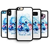 Coque Silicone Bumper Souple IPHONE 7 Plus / 8 Plus - Lilo & Stitch Aquarelle Pastel Personnalisable...