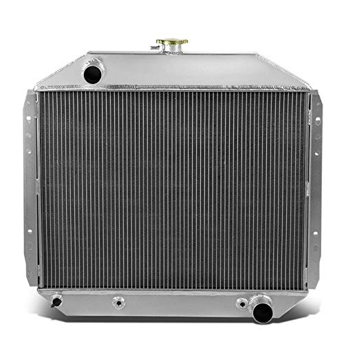 OzCoolingParts 66-79 Ford F-Series Radiator, 4 Row Core Full Aluminum Radiator for 1966-1979 1967 1968 1969 1970 71 72 73 74 77 78 Ford F100 F150 F250 F350 Bronco Truck Pickup, V8 Engine