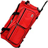 Travel Duffel Bag Colour and Size Choice 85 Liter Red Wheeled Luggage Castors