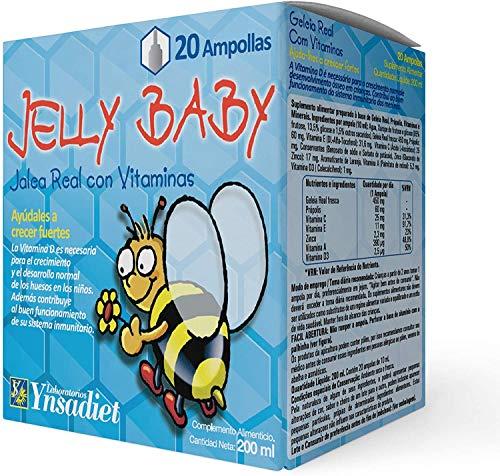 Jalea real Infantil– Jalea Real con propóleo Para Niños – Própolis - vitamina C – Vitamina D3 – Vitamina E y Minerales -Mayor energía y vitalidad - Aumenta las defensas –Jelly Baby (20 VIALES)