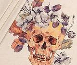 Panel Jersey Flowerskull - sand meliert BioBunt
