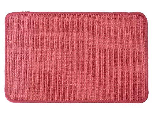 Primaflor - Ideen in Textil Katzen-Kratzmatte Katzenteppich - Rot 40 x 60 cm, Sisal, Langlebige Rutschhemmende Sisal-Matte, Geeignet für Fußbodenheizung, Krallenpflege Sisalteppich für Wand & Boden