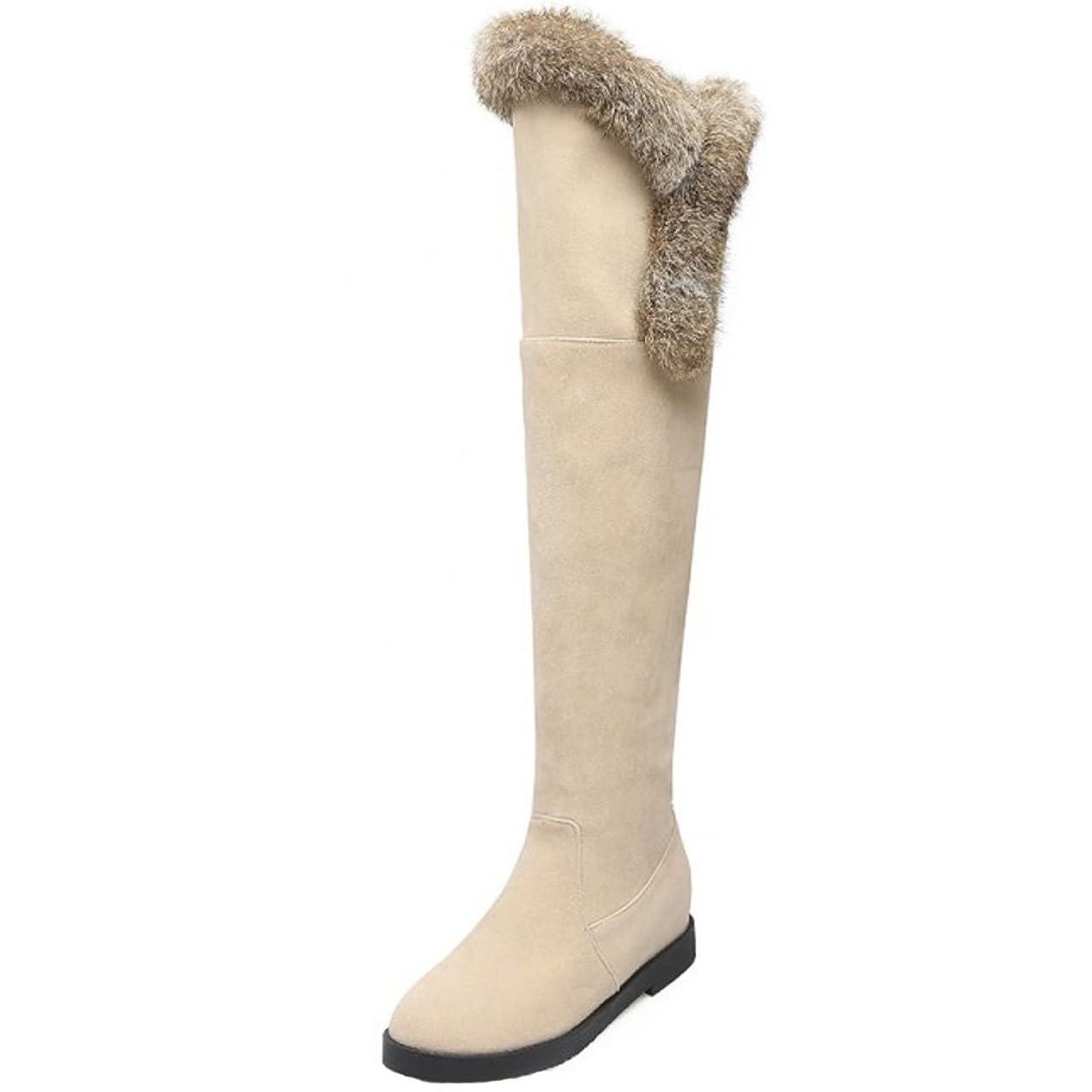 カプセル液体辞書[タオフェン] レディース コンフォート 防寒 ロング ブーツ 柔らかい ニーハイ ブーツ