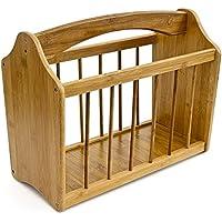 Relaxdays 10015644 - Revistero de bambú, 42 x 21 x 35 cm