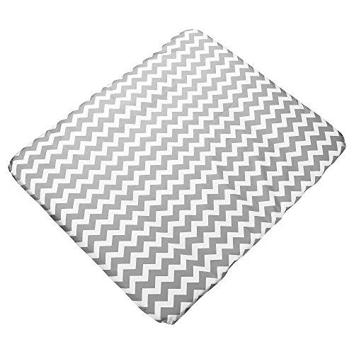 Sugarapple Bezug für Wickelauflage 75x85 cm Zick Zack grau
