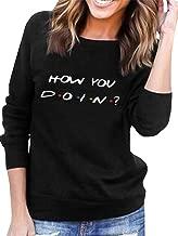 AEURPLT Womens Teen Girls Funny Cute Hoodie Loose Hooded Fleece Pullover Sweatshirt Tops