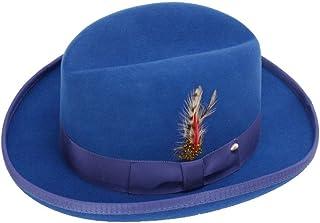 c79c611b3e7 New Mens 100% Wool Royal Blue Godfather Style Homburg Fedora Hat