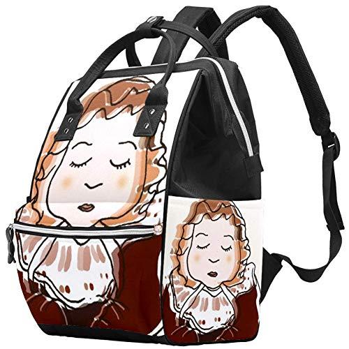 Cute Head Travel Rucksack Casual Daypack Maternity Nappy Bag Organizer Nursing Bottle Bag