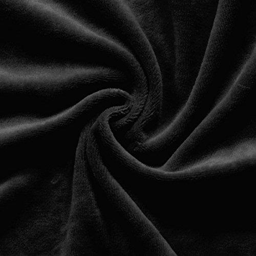 STOFFKONTOR Nicki Baumwollstoff Stoff - kuschelweicher Wohlfühlstoff, Kinderstoff - Meterware, schwarz - zum Nähen von Kinderkleidung, Hausanzügen, Kissen