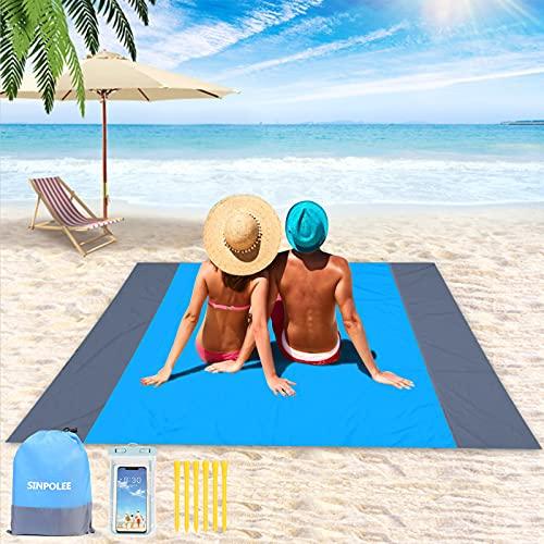 Beach Blanket Sandproof,Oversized Sand Free Beach Mat,Waterproof Large...