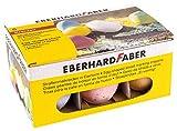 Eberhard Faber 526510 - Straßenmalkreiden in Eierform, Kartonetui mit 6 Kreiden in leuchtenden Farben, für bunten Malspaß auf Asphalt, Straßen und Gehwegen -