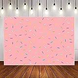 Fondo de fotografía de cumpleaños Rosa Pastel de bebé recién Nacido Smash decoración de Fiesta de cumpleaños telón de Fondo Estudio fotográfico A1 5x3ft / 1,5x1 m