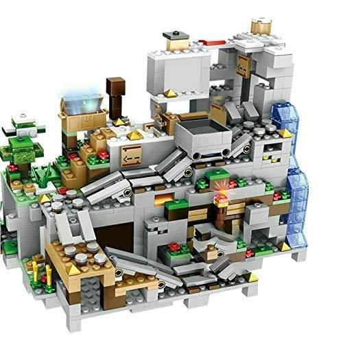 Rawikan Bloques de construcción detallados de My World Mountain Cueva con ascensor 1000 juguetes para niños (compatibles con Lego)