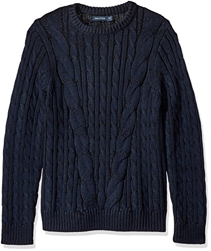 W Cable Knit Sweaters Men's